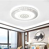 LHX Lámpara de Techo de Dormitorio Redonda, sin Pantalla de Salpicadura Visible, lámpara de Techo más Transparente, Moderna y Sencilla, diámetro 40/50/60 / 80cm (Color : White Light, Size : 50cm)