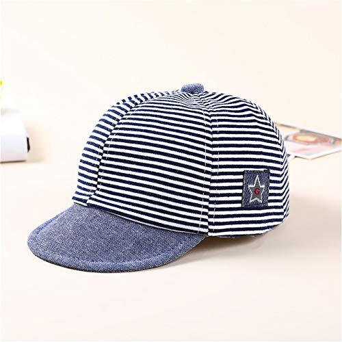 mlpnko Baby Hut Baby Mütze Kinder Baseball Cap Jungen und Mädchen Sonnenhut Säugling gestreiften Hut Marineblau Marine