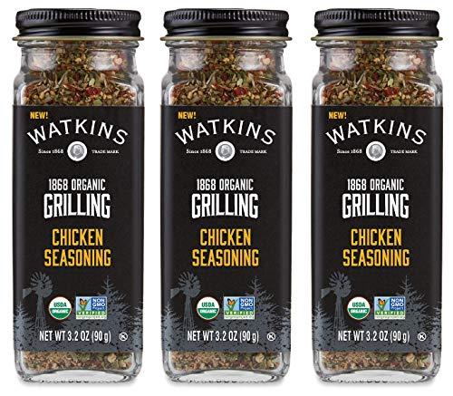 Watkins Organic Grilling Chicken Seasoning, 3.2 Oz, 3-Pack