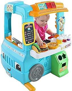 Fisher-Price Laugh & Learn Servin' Up Fun Food Truck (paquete de lujo – incluye 22 juguetes con registro de dinero mágico)