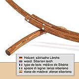 Ampel 24 Outdoor Hängemattengestell 316 cm, Holz Lärche wetterfest, Gestell Malaysia braun ohne Hängematte - 5