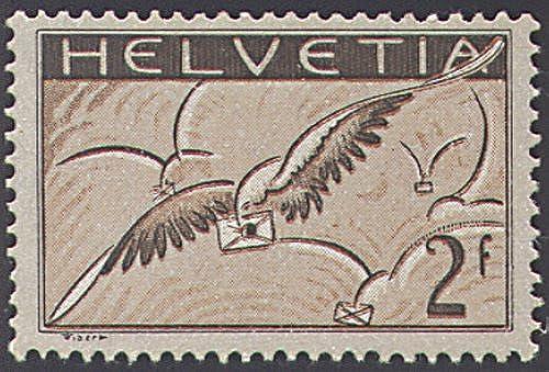 Goldhahn SchWeiß Nr. 245x postfrisch  Flugpost 1930  Briefmarken für Sammler