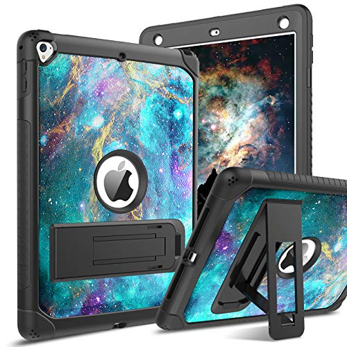 BENTOBEN iPad Air 2 Case, iPad 6th/5th Generation Case, iPad 9.7 2018/2017 Case, iPad Pro 9.7 Case, Glow in The Dark 3 in 1 Shockproof Kickstand Protective Girls Women Boys Men Tablet Cover, Nebula