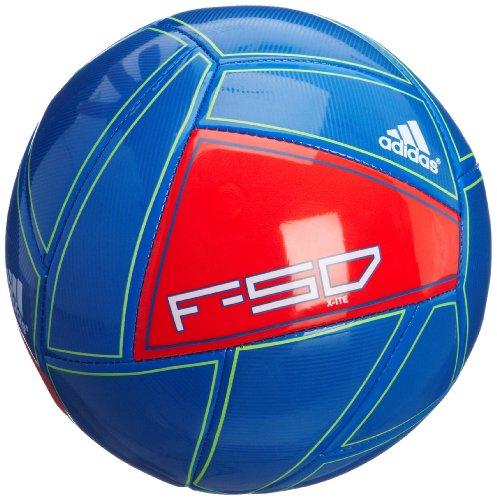 adidas Uni Fußball F50 X-ite, prime blue s12/core energy s12/white, 5, X16981