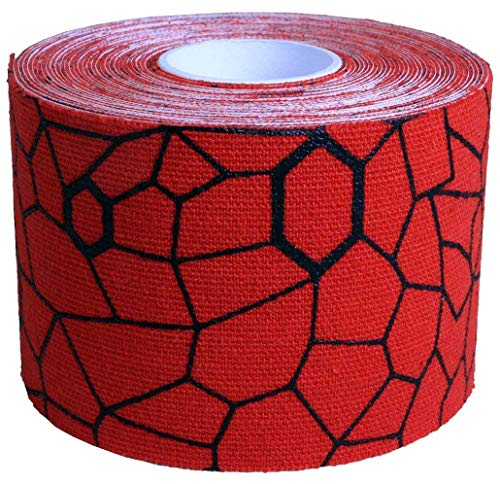TheraBand Tape Hot Red/Black, Individual Roll