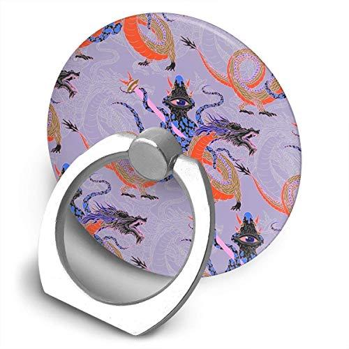 ARRISLIFE Japanese Water Dragon 虬竜 Soporte para teléfono,Round-Shaped Soporte para Anillo de teléfono Celular,360 Degrees Rotating Soporte de Metal