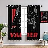 Cortinas opacas con aislamiento térmico de Star Wars Icons Posters Vader con...
