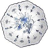 JUNYYANG 10 pouces Plate style chinois de fruits en céramique creux Plateau de fruits Compote Creative Salon Café Décoration de table Accueil Fruit Basket Bowl