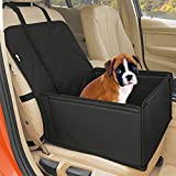 Extra Stable Dog Car Seat - Robust Car Dog Seat or Puppy Car Seat for Small to Medium-Sized Dogs - Reinforced Walls and 3 Belts - Waterproof Pet Car Seat for Back and Front Seat