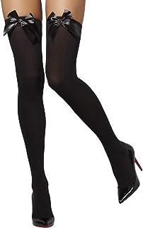 Smiffy's-42752 Miffy Medias opacas, con lazos negros, color, XS a M-EU Tamaño 34-42 (42752) , color/modelo surtido