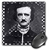 3dRose Poe Grunge Checkered Angelandspot Mouse Pad (mp_130440_1)