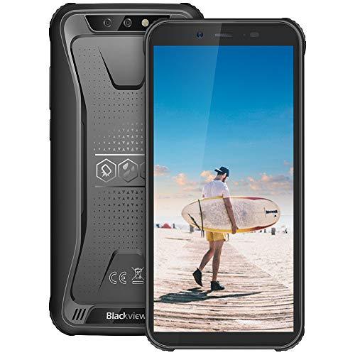 Blackview BV5500 Pro Telefonos Resistentes (2019), 5.5 Pulgadas Dual SIM Android 9.0 Pie 4G Teléfono Robusto, 3GB+16GB, TF 128GB, 8MP+0.3MP+5MP, 4400mAh Batería, NFC/ID de Rostro/GPS - Negro