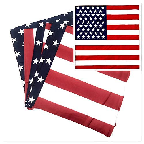 50 Bulk American Flag Bandanas - Ideal For 4th of July Celebrations and Patriotic Masks