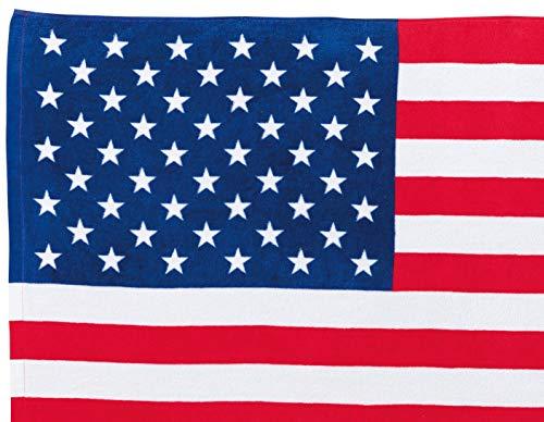 丸眞バスタオルアメリカ70×140cmチアーアメリカ国旗柄0135022200