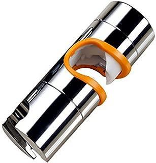 RUNYUU Shower Bracket 19-25MM O.D. Adjustable Hand Shower Rail Head Bracket Holder for Slide Bar Slider Clamp Bathroom Replacement, ABS Chrome Plated (orange)