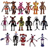 17 Pcs Five Nights at Freddys Action Figures Play with The Characters from The Release of Five Nights at Freddy's FNAF for Kid Gifts