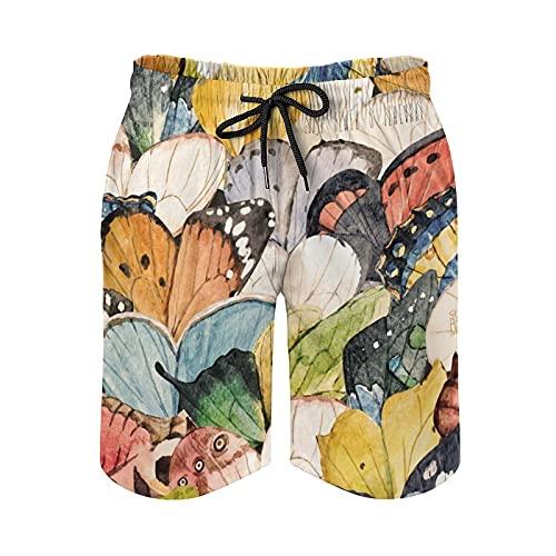 136 Vintage Butterfly - Bañador para hombre
