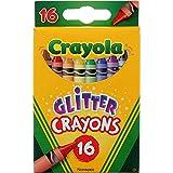 Crayola Glitter Crayons 16 Crayones surtidos colores mezclados