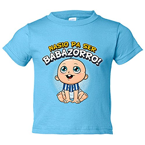 Camiseta bebé nacido para ser Babazorro para aficionado al fútbol de Vitoria Gasteiz - Celeste, 2 años