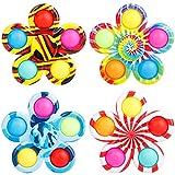 Giocattolo sensoriale Push Pop Bubble Fidget giocattolo per estrusione di bolle sensoriali per autismo, per esigenze speciali per alleviare l'ansia (4 fiori)
