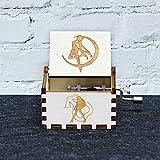 XWF Cajas Musicales Madera de música de la manivela Theme Box for Juego de Tronos Amelie Star Wars Juego de Tronos Caja de música (Color : Sailor Moon)