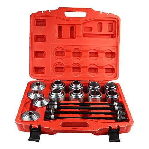 Universal Kfz-Lager-Werkzeuge, 36 Stück Karbonstahl-Kugellager-Entfernungs-Werkzeuge Presse und Ziehhülsen-Set mit Aufbewahrungsbox