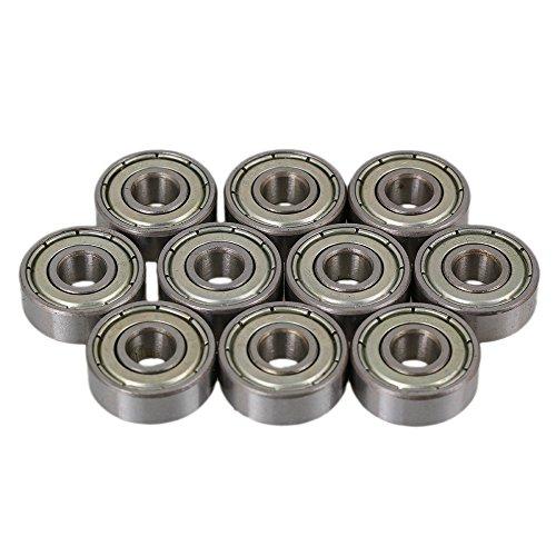 6mm x 17mm x 6mm Silber hohe Präzision einreihig Rillenkugellager 606ZZ Packung von 10 stück