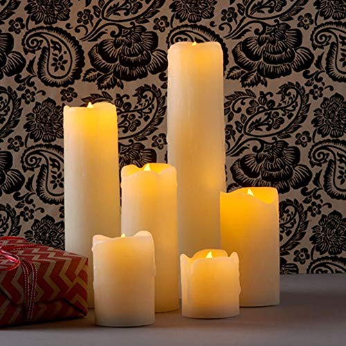 Bright Flameless Electronic Wedding Candles Decorative,Led Wax Candle Light,Romantic Marriage Propose,Valentine's Day Decor. Candle Flickering (Color : Size 75x100mm)