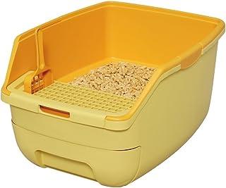 アイリスオーヤマ システムトイレ用 楽ちん猫トイレ フード無しセット オレンジ