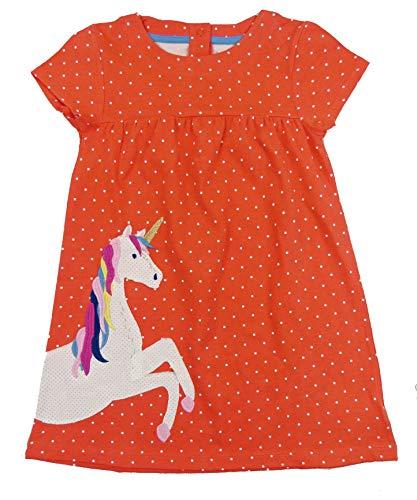 The Pyjama Party Baby Mädchen Kleid kurzarm bequem Baumwolle Jersey zwei hübsche Designs Gr. 92, Patchwork Einhorn Kleid