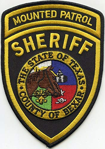 Embroidered Patch - Patches for Women Man - Bexar County Texas TX Horse Mounted Patrol Sheriff Police