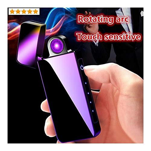 YuII Aansteker met roterende arc en USB-aansluiting, elektronisch opladen, gevoelig voor plasma, winddicht