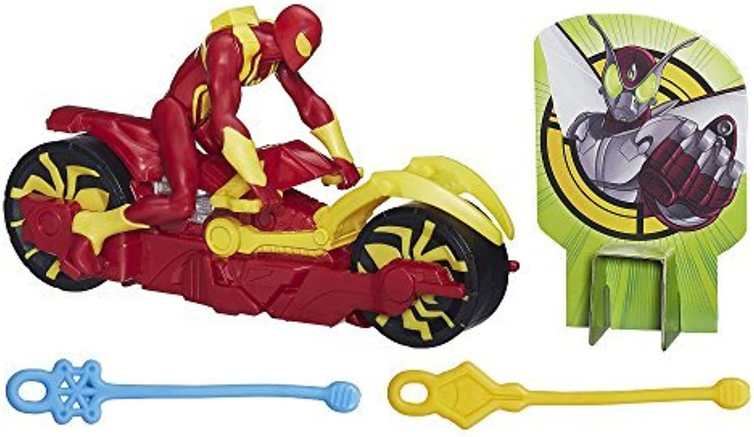 Marvel Ultimate SpiderMan Web Slingers Iron Spider with Arc Web Cycle by SpiderMan