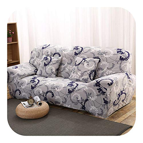Sukyy Elastic Spandex Sofa Cover Tight Wrap All-Inclusive Couch Covers for Living Room Sectional Sofa Cover Love Seat Patio Furniture-Color 12-4-seater 235-300cm
