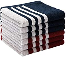 EliteBond Cotton Tea Towels Soft and Absorbent Kitchen Towels for Washing Up 100% Cotton Terry Kitchen Dish Cloths Set...