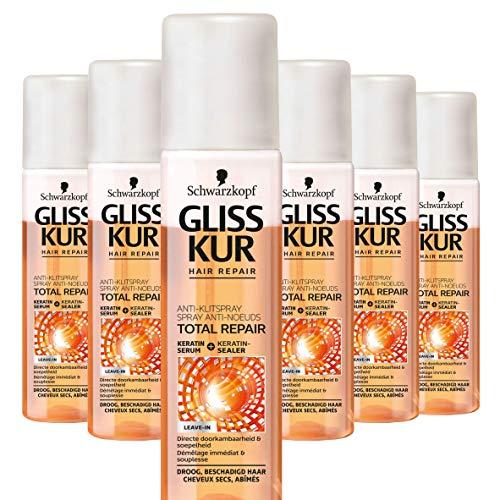 Schwarzkopf Gliss Kur Total Repair Anti Klitspray 200ml , 6 stuks
