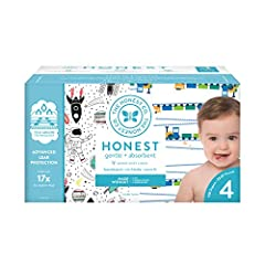 ADORABLE DIAPERS: This box is packed with hypoallergenic, super-soft, ultra-absorbent, gentle, and safe disposable diapers in adorable, posh prints, with soft, stretchy side panels, comfy elastic waistband, sure-fit leg cuffs, and fastening tabs. SUP...