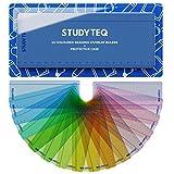 15 x Disposiciones y reglas de lectura de color para dislexia profesional Studyteq + estuche protector | Reglas de seguimiento de lectura para el estrés visual, dislexia, síndrome de Irlens y TDAH