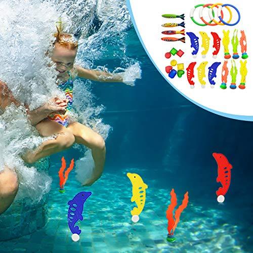 Not application Juguetes subacuáticos de la piscina, juguetes de buceo de la piscina, anillos de buceo, palos de buceo, peces de buceo para niños y niñas
