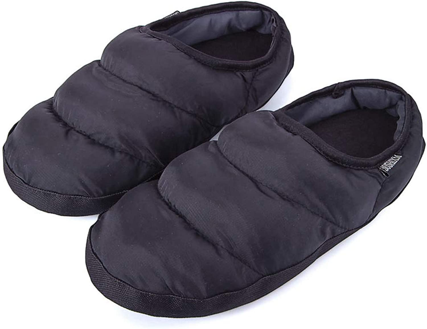 Nafanio Winter Slippers Boots Female Home Warm Indoor shoes Ladies Fuzzy Black Plush House Flip Flops Slides