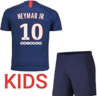 Soccer PSG Paris Blue Azul Home Neymar Kids Kit 2019