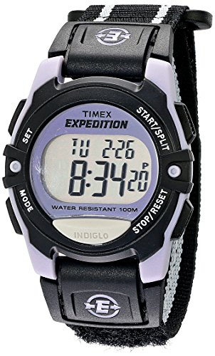 Timex Unisex T49658 Expedition Classic Digital Chrono Alarm Timer Black Fast Wrap Velcro Strap Watch
