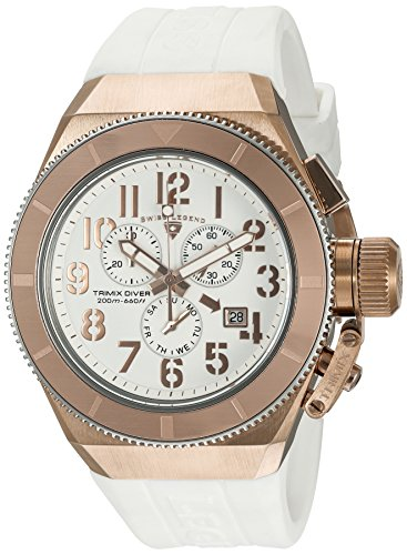 Swiss Legend Herren analog Swiss Quartz Uhr mit Silikon Armband 13844-RG-02-RA