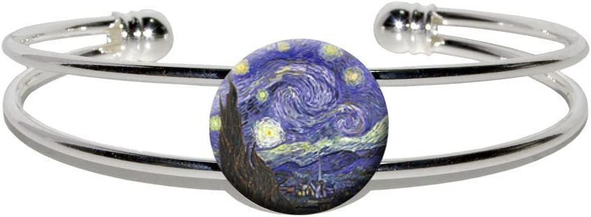 Starry Night by Vincent Nippon regular agency Van Gogh C Silver Finally popular brand - Metal Plated Novelty