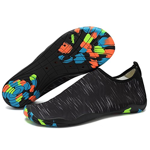 Zapatos de Agua Zapatillas Hombre del Deporte de Agua(Negro-EU42)