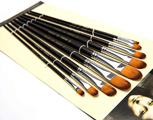 Pinceles de artista, 9 piezas, mango largo, pinceles perfectos para...