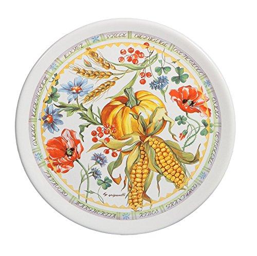 Spigarelli Ceramiche - Set. PZ. 2 Art. 166/ff Piatto Dolce/Pizza in Ceramica Forte CM. 31 Serie Festa dei Fiori by SPIGARELLI