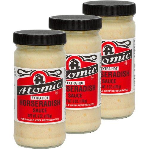 Atomic Horseradish - Extra Hot - '3 Pack ' - (6 Oz Jars)