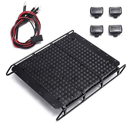 HONG YI-HAT Adecuado for TRAXXAS TRX-4 TRX4G500 TRX-6 G63 6X6 de baca portaequipajes Bricolaje Accesorios Rack de Control Remoto de Coches de Equipaje Piezas de Repuesto (Color : Black)
