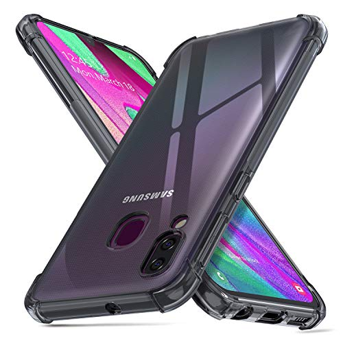 deconext Funda Samsung A40, Carcasa Plustectora Delgada y Transparente con Refuerzo en Las Esquinas Parachoques y Resistente a Arañazos TPU Flexible para Samsung Galaxy A40(2019) 5,9